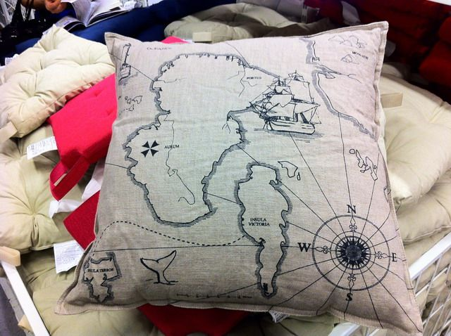 Ikea map pillow (print on burlap) & Ikea map pillow (print on burlap) | Baby Nursery Ideas | Pinterest ... pillowsntoast.com