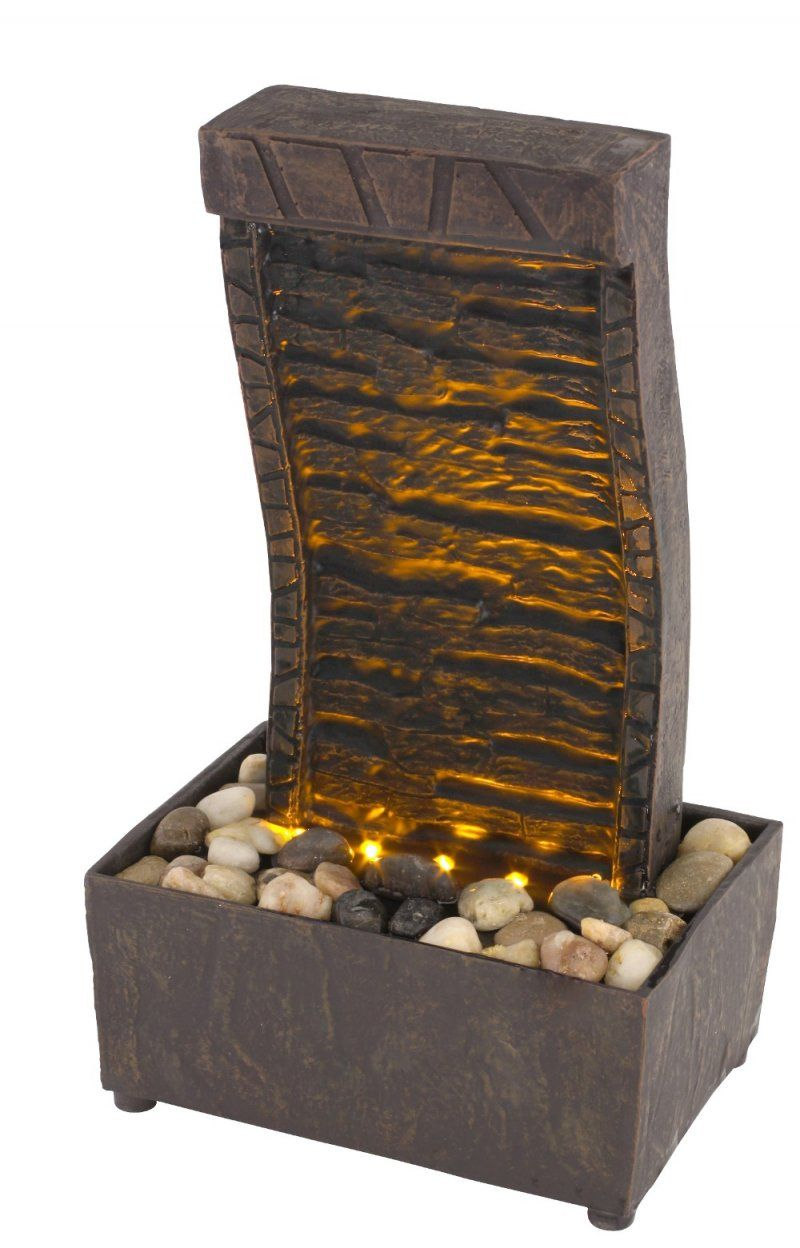Tranquility Led Illuminated Lighted Indoor Tabletop Fountain Battery Operated Tabletop Fountain Indoor Tabletop Fountains Tabletop Water Fountain