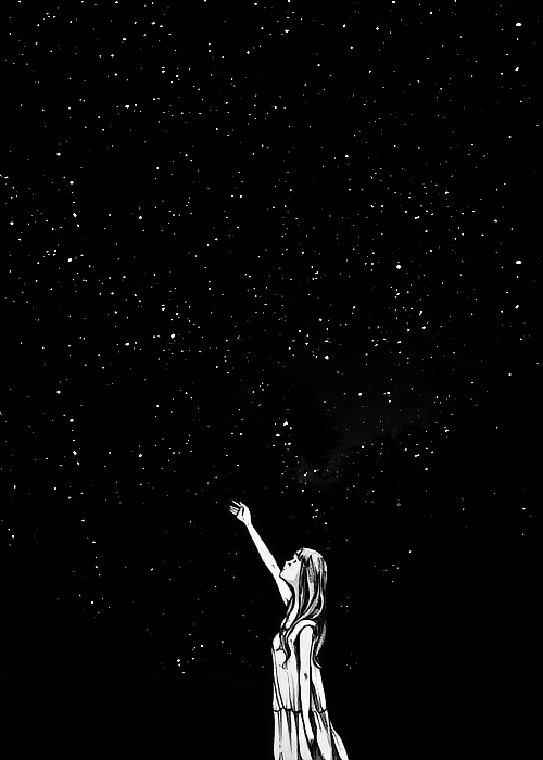 Maybe One Day We Ll All Touch The Stars Art Drawings Beautiful Black Aesthetic Wallpaper Art