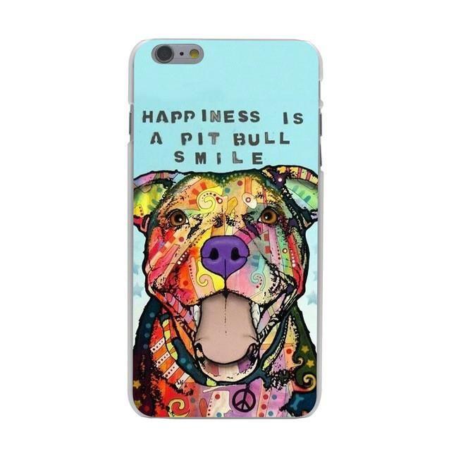 Pitbull dog Hard Case Transparent for iPhone 7 7 Plus 6 6s Plus 5 5S SE 5C 4 4S