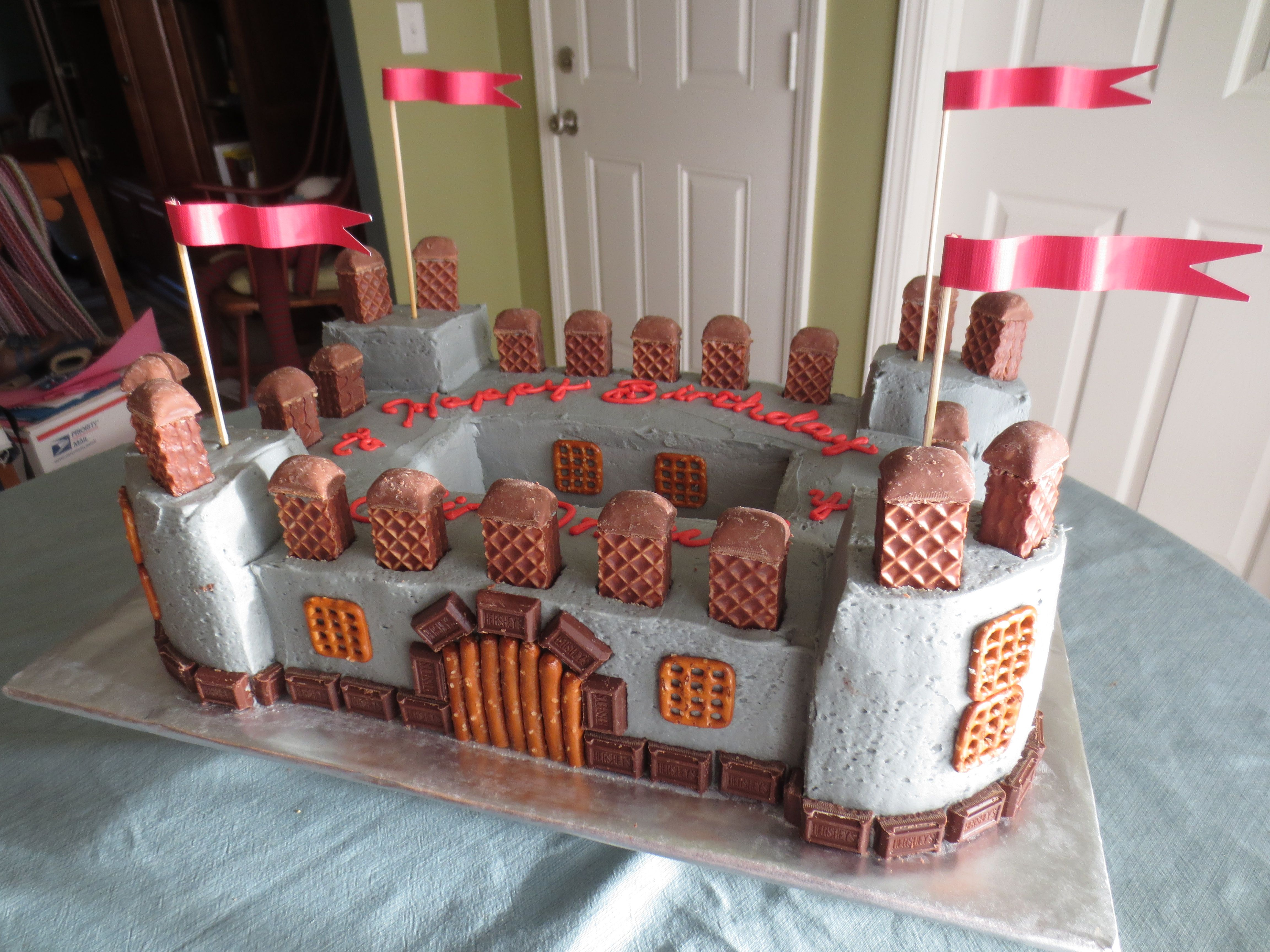 Magnificent Medieval Castle Cake With Images Castle Birthday Cakes Funny Birthday Cards Online Overcheapnameinfo