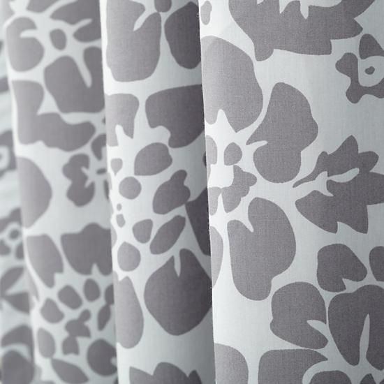 Floral Blackout Curtains (Grey) | The Land Of Nod