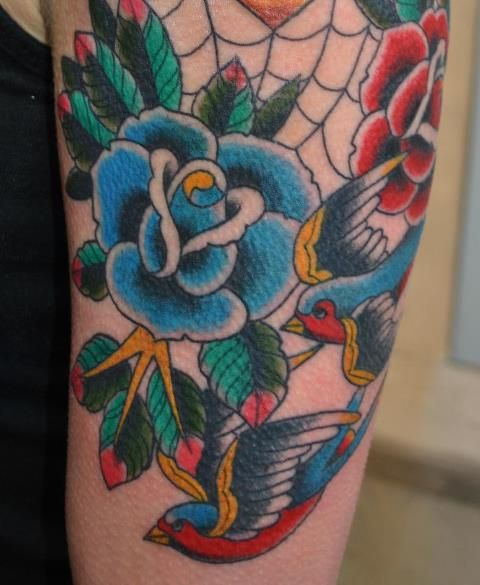 close of a tattoo i am working on.