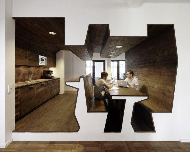 contemporary internet cafe design | Design of Jung von Matt Agency Contemporary Office Interior Design ...