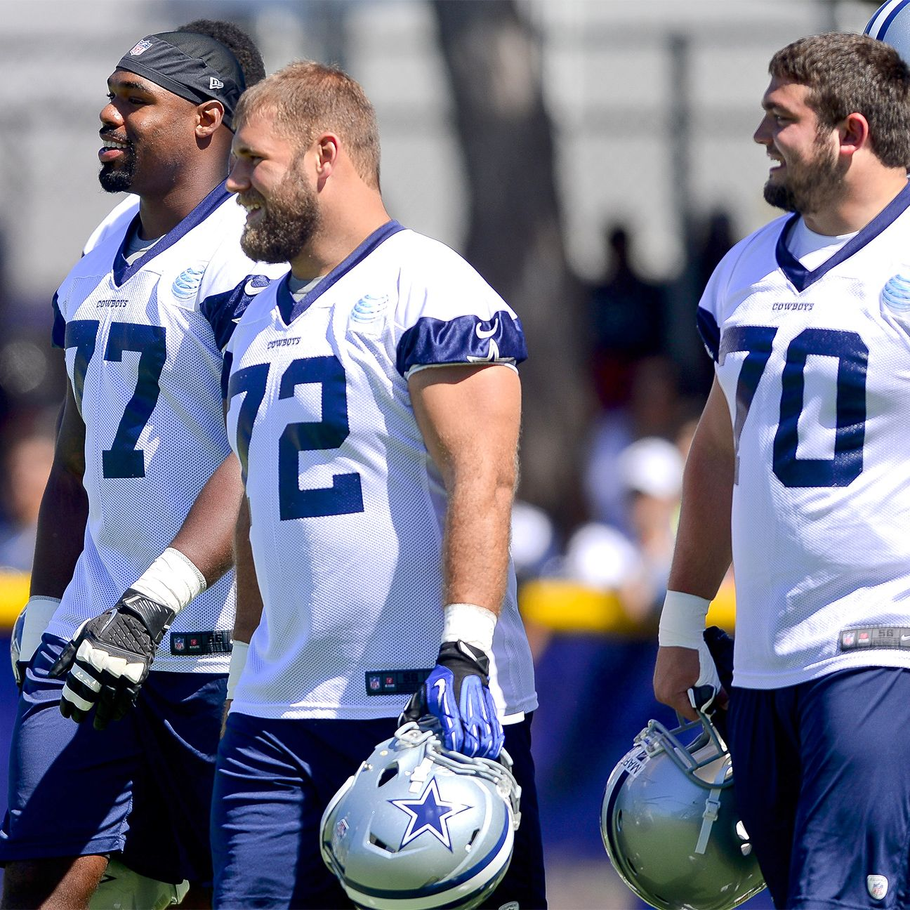 Time for Cowboys' offensive line to live up to tag