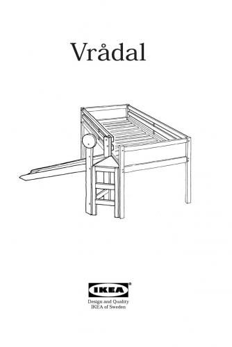1 Ikea Vradal Bed With Slide Instructions 1 Jpg 334 500 Pixels Bed With Slide Ikea Bunk Bed Kids Bedroom Inspiration
