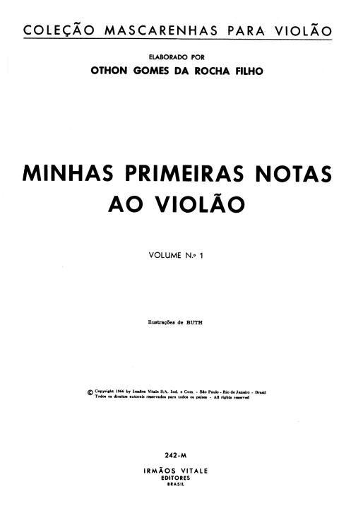 Metodo De Violao Erudito Minhas Primeiras Notas Ao Violao Vol 1