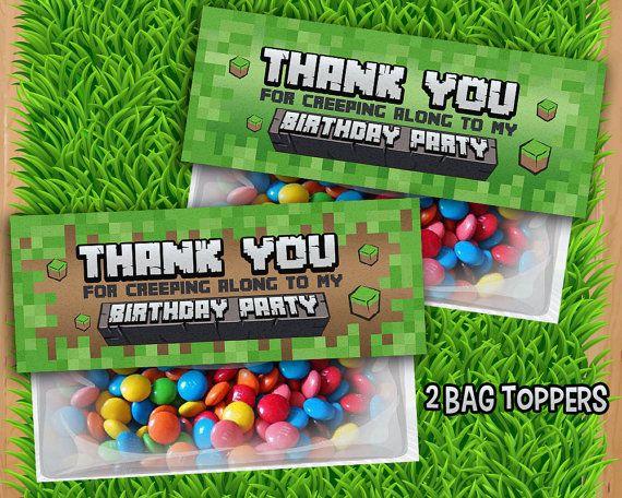 Karau0027s Party Ideas Minecraft Birthday Party! Free Printablesthe
