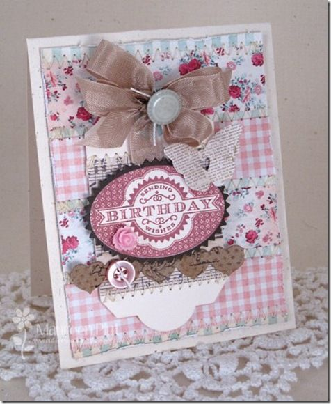 Sending Birthday Wishes ~ by Maureen, Buttons & Bling