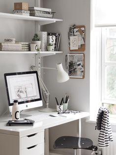 Büro einrichtungsideen modern  A light summer workspace with Design Letters & Friends. Love the ...