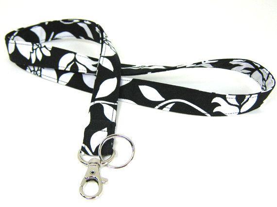 Fabric Lanyard ID Badge Lanyard & Key Ring by SwaddleinCloth