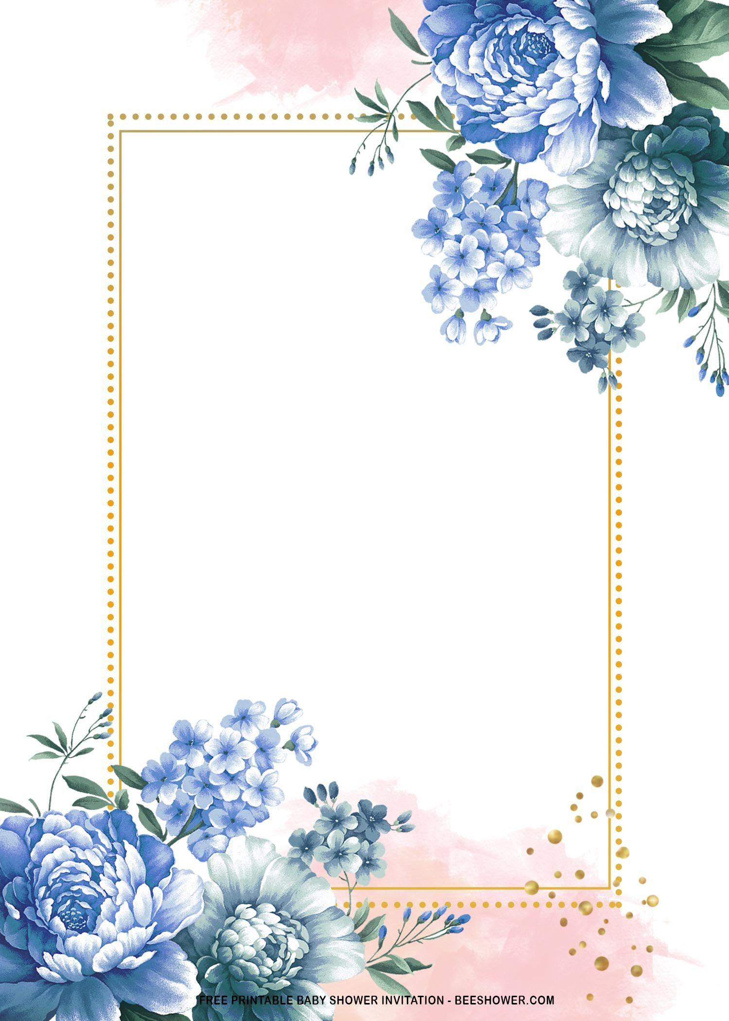 free printable royal blue roses baby