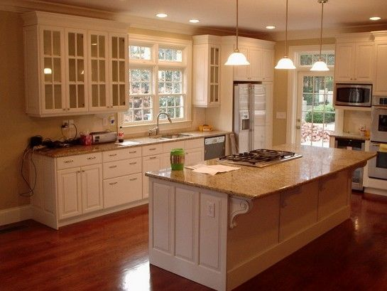 Decoration Fascinating Kitchen With Granite Kitchen Islands Including Drop In Gas Stove Top Al Home Depot Kitchen Cheap Kitchen Cabinets Kitchen Cabinet Design