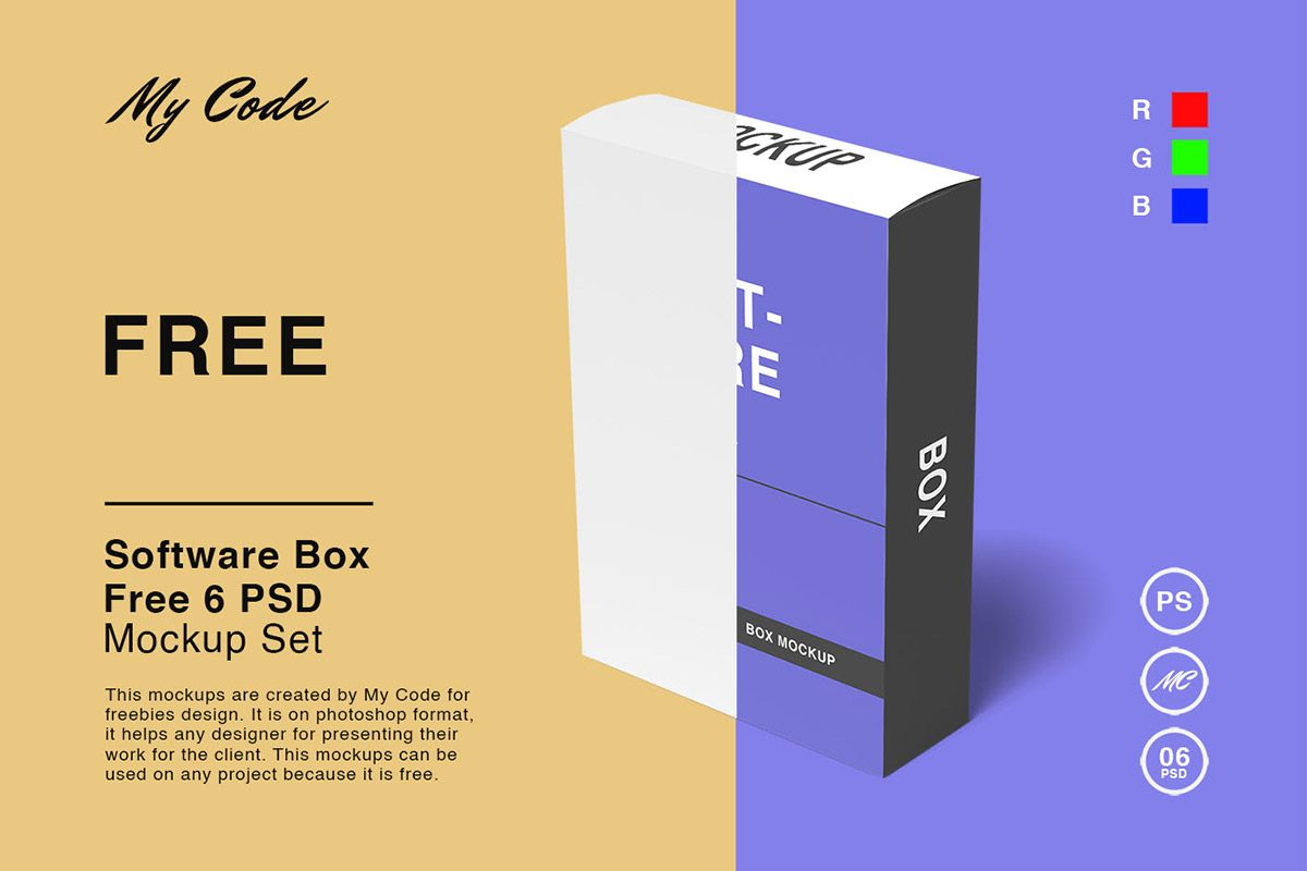 Download Free Software Box Mockup Set Box Mockup Box Software Mockup