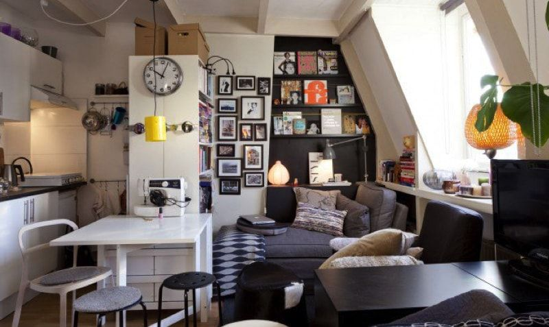 17 Ideas For Decorating Small Apartments Tiny Spaces One Room
