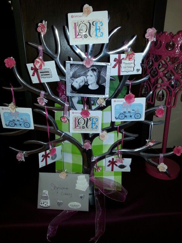 gift card tree for bridal shower