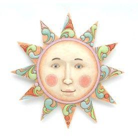 Color sun face wall decor