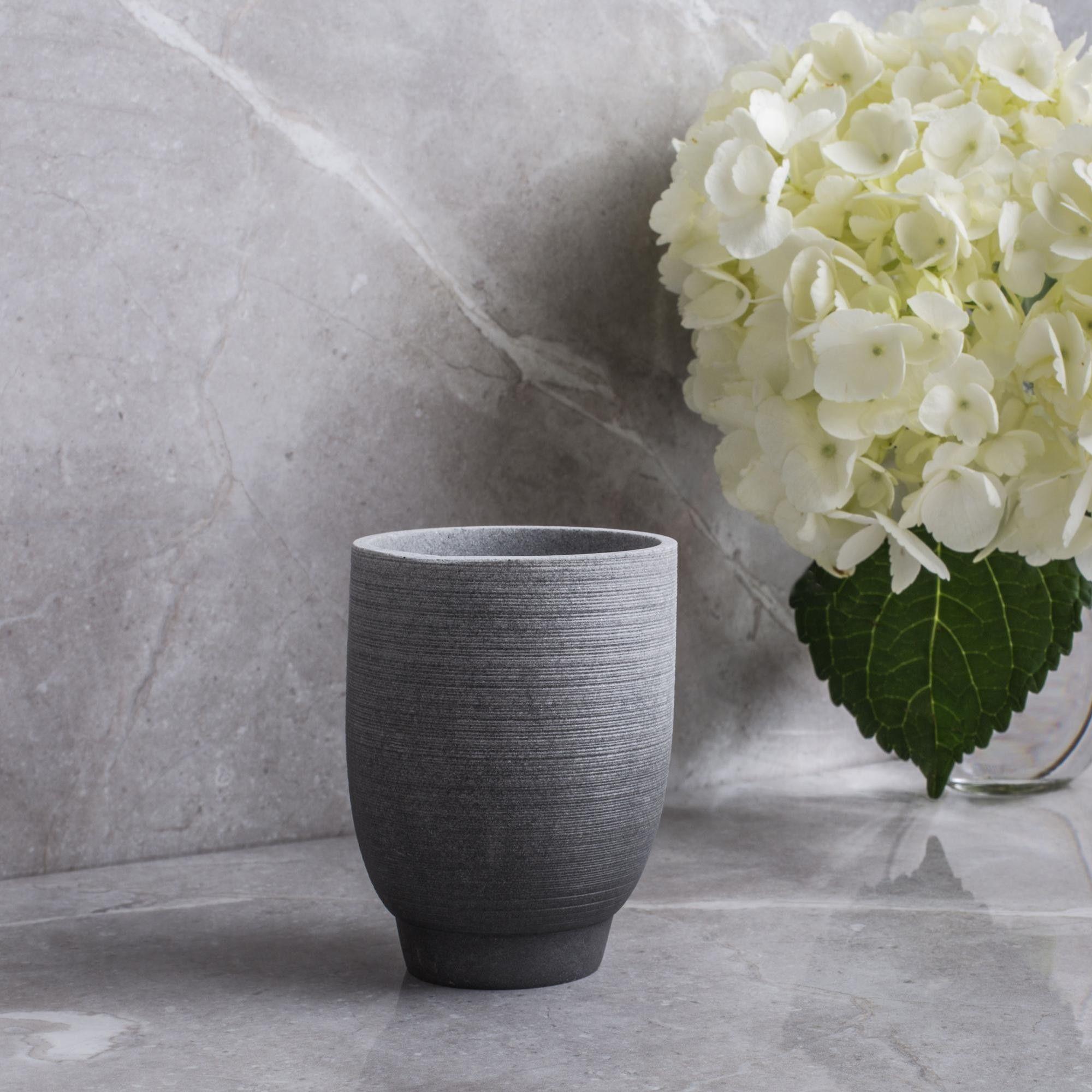 Moda At Home Greystone Resin Tumbler Grey Bathroom Accessories