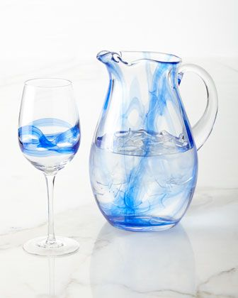 Admiral Pitcher & Wine Glasses by Mikasa at Neiman Marcus.