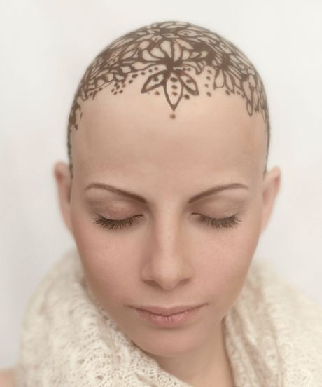 Women Hair Loss Henna Crown Bald Beauty Hair Loss Women Bald Women Bald Head Tattoo