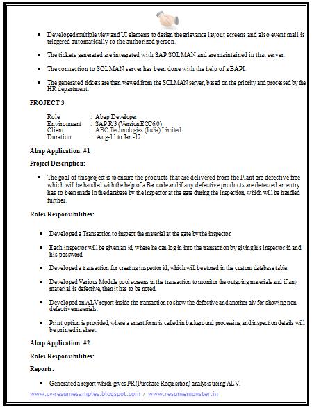 computer science resume sample 3 career pinterest