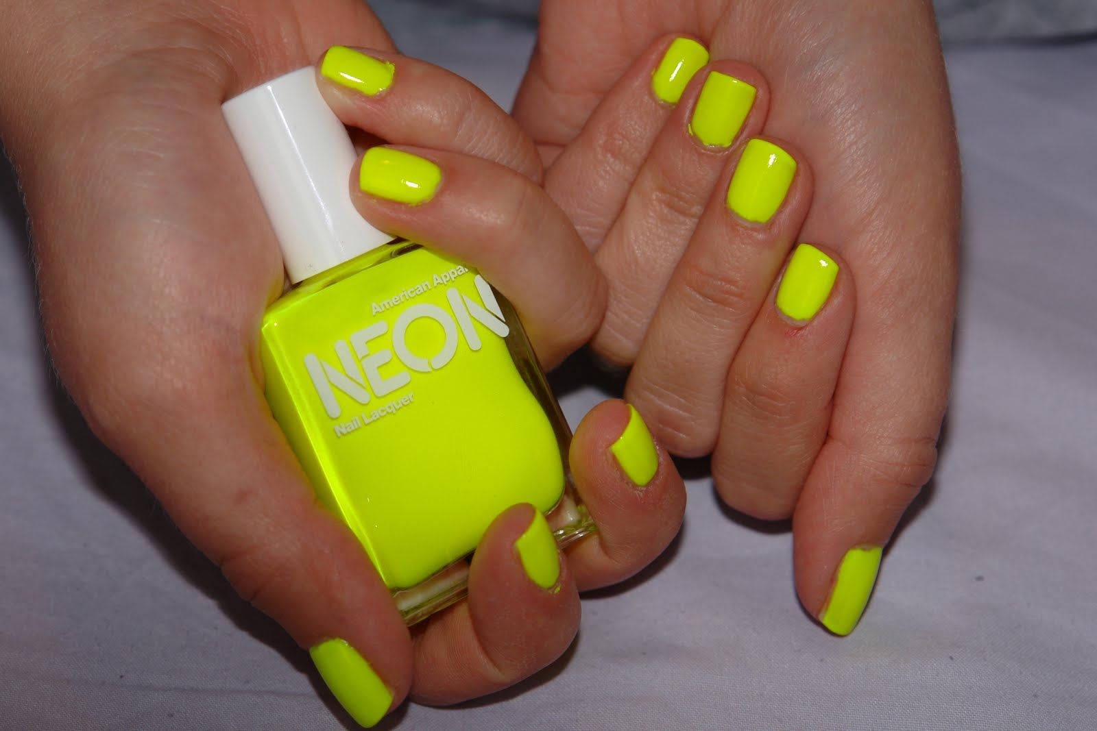 neon pink nail designs | Review: American Apparel Nail Lacquer ...