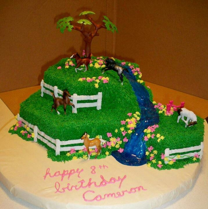 Horse Birthday Cake By GGs Creative Creations By GGs Creative
