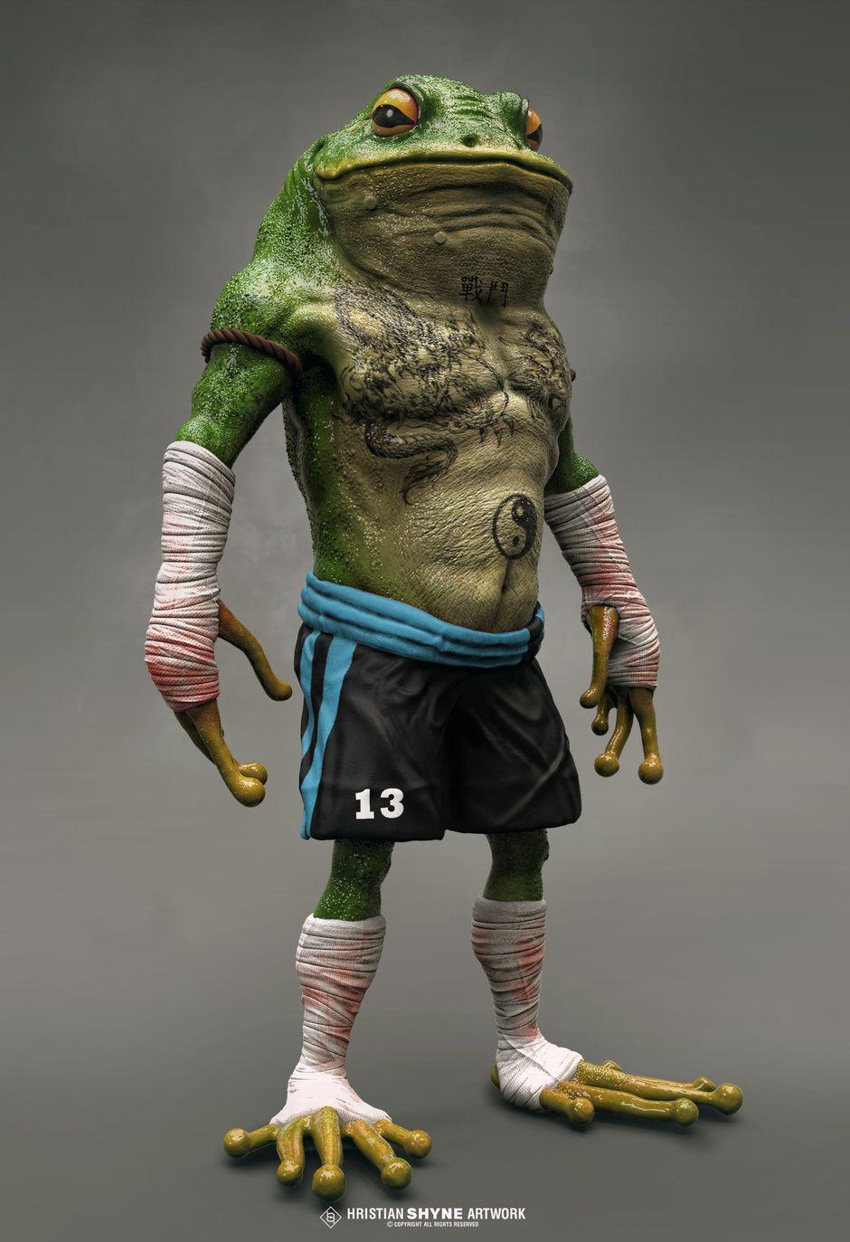 Battle Frog Re Render By Hristian Shyne Realistic 3d