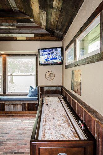 Basement Game Room Designs: Game Room Decor, New Homes, Shuffleboard Table