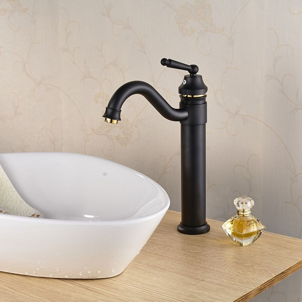 Antique above counter basin balck gold-plated Mixing faucet, Brass ...