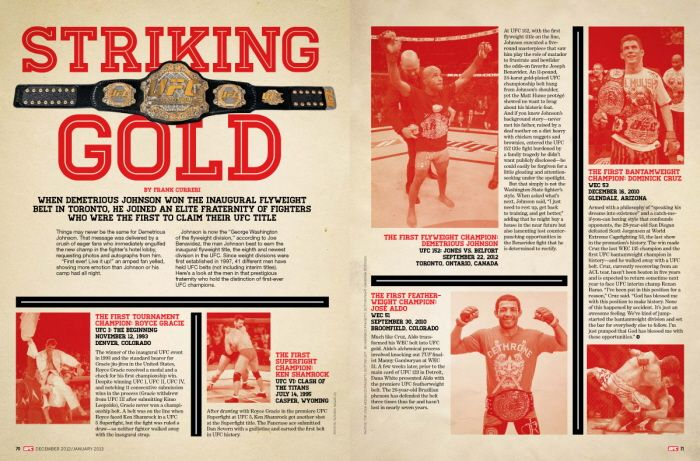 UFC Magazine Features by Randy Laybourne at Coroflot.com