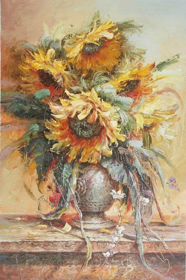 Живопись на заказ, картины с цветами, натюрморт ...