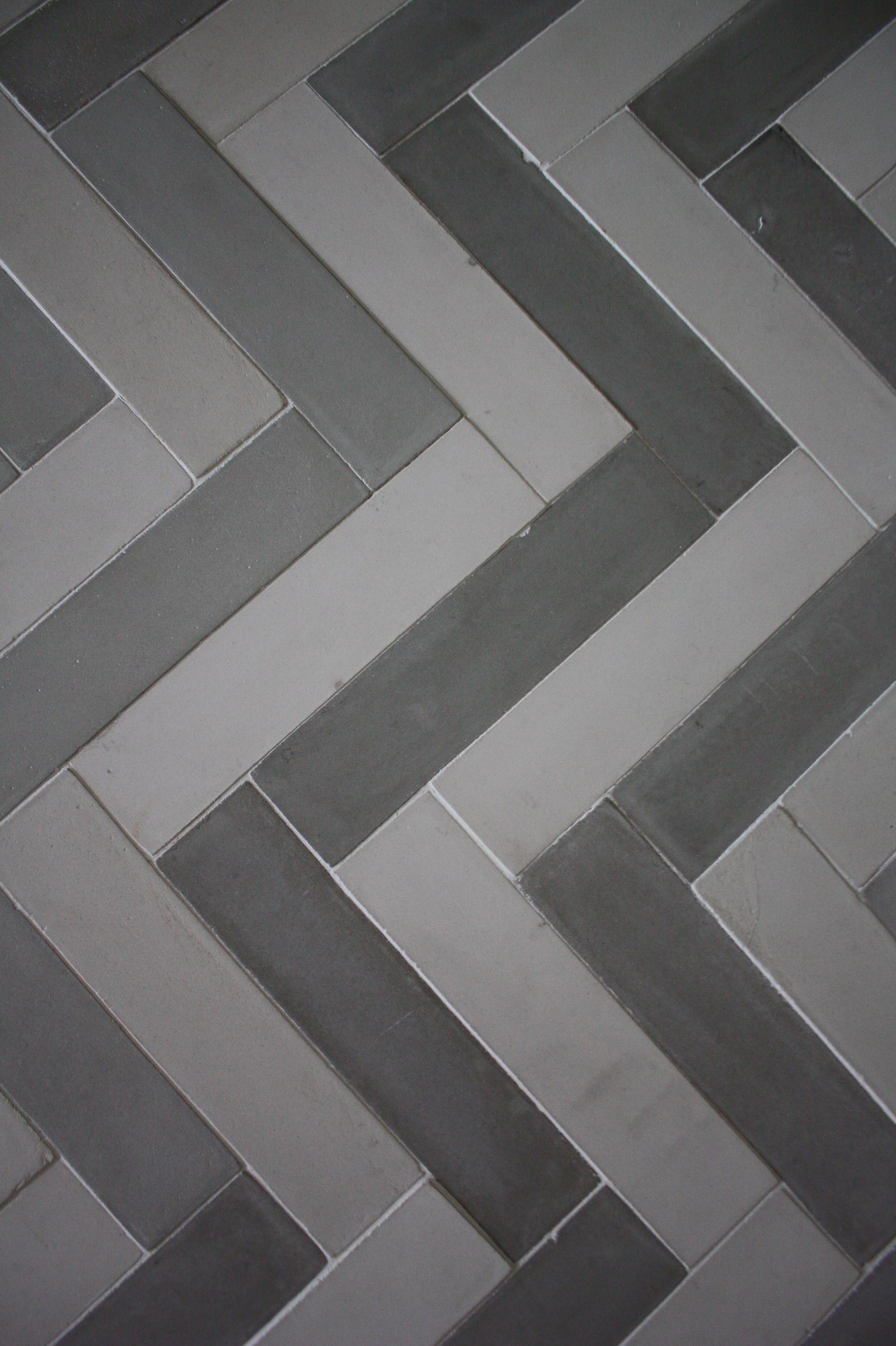 2X8 Cement Tile In Chevron Pattern By Presidio Tile