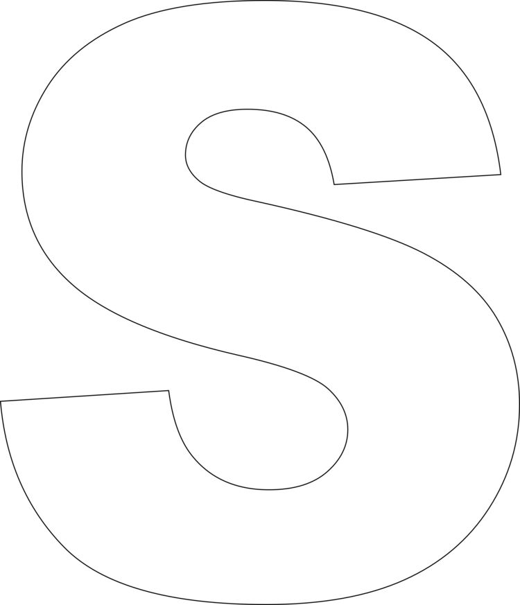 """vorlage für den buchstaben """"s""""  alphabet templates free"""