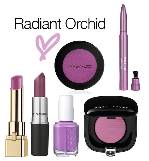 Radiant Orchid beauty inspiration Radiant Orchid Pantone