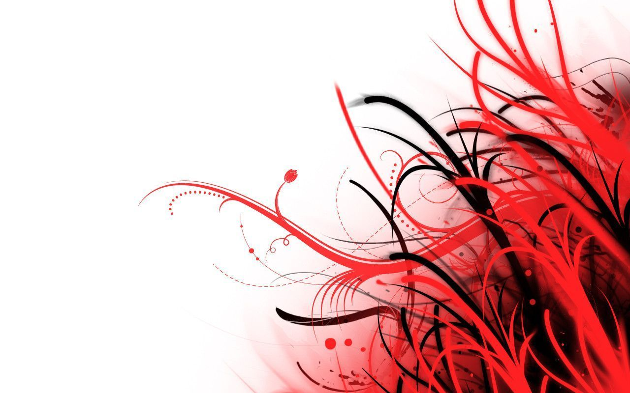 Papel De Parede Abstrato Vermelho E Branco Por Phoenixrising23 No