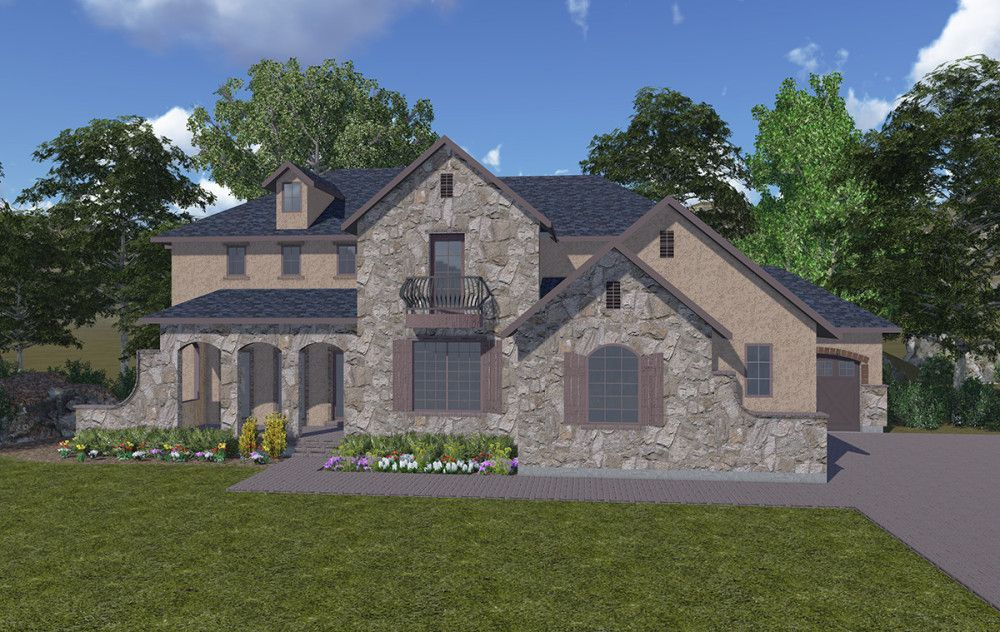 Deville 2 Story French Country Style House Plan Walker Home