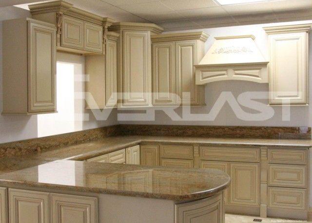 Fantastic Antique White Glazed Kitchen Cabinets Black Glazed