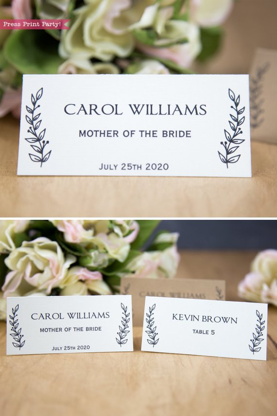 Wedding Place Cards Printable W Table Numbers Vintage Etsy Wedding Place Card Templates Place Card Template Wedding Place Cards