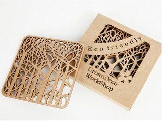 Mobili betulla ~ Sottobicchiere in betulla deep forest scandimama wooden
