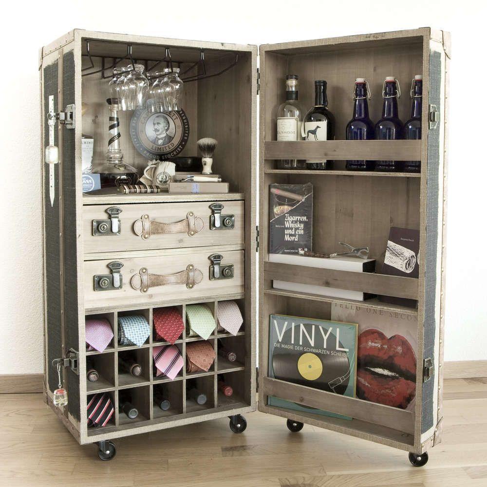 Dieser Bar Schrankkoffer Ist Eine Stilvolle Dekoration Frs Arbeits Oder Wohnzimmer Bietet Platz