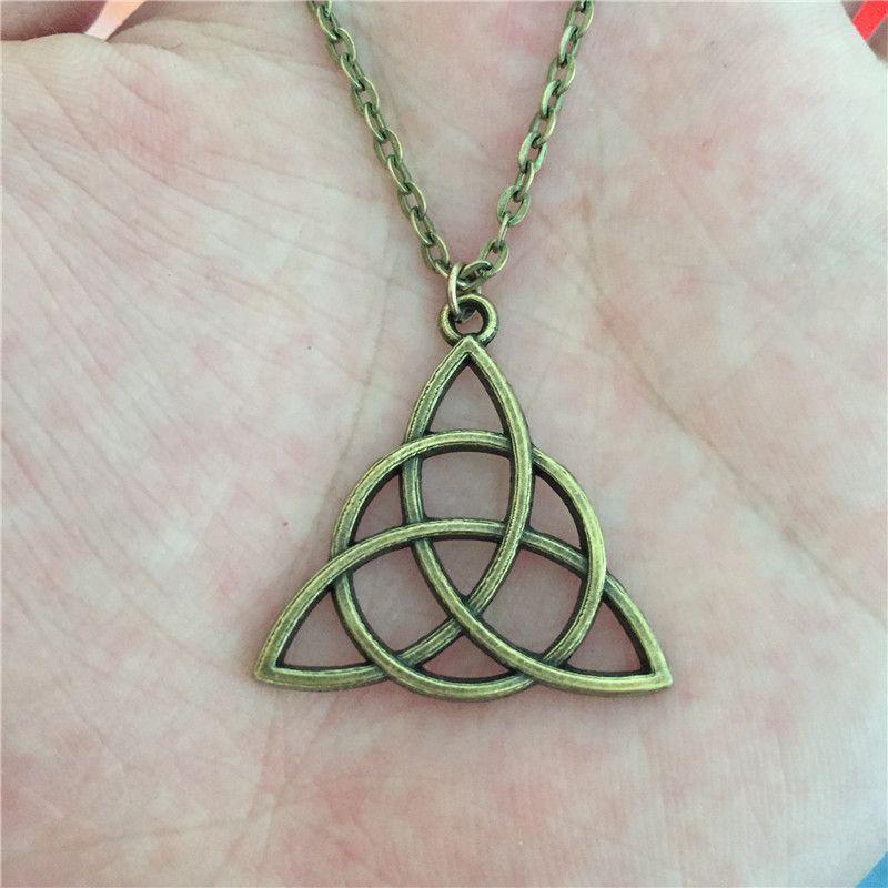 Bronze Triquetra Symbol Pendant Jewelry Pinterest Triquetra