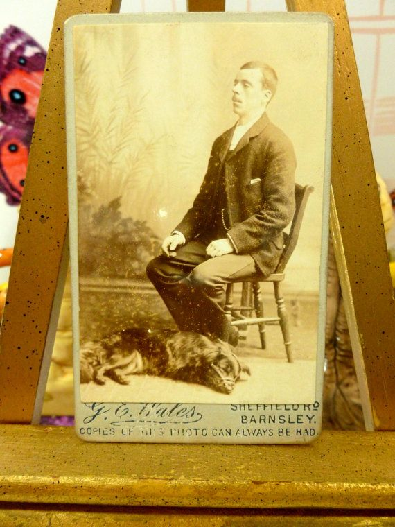 Rare Antique Victorian Photo of Muzzled Dog Carte by KittysTales