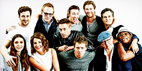 The cast of the Avengers are all fabulous. Jeremy's face