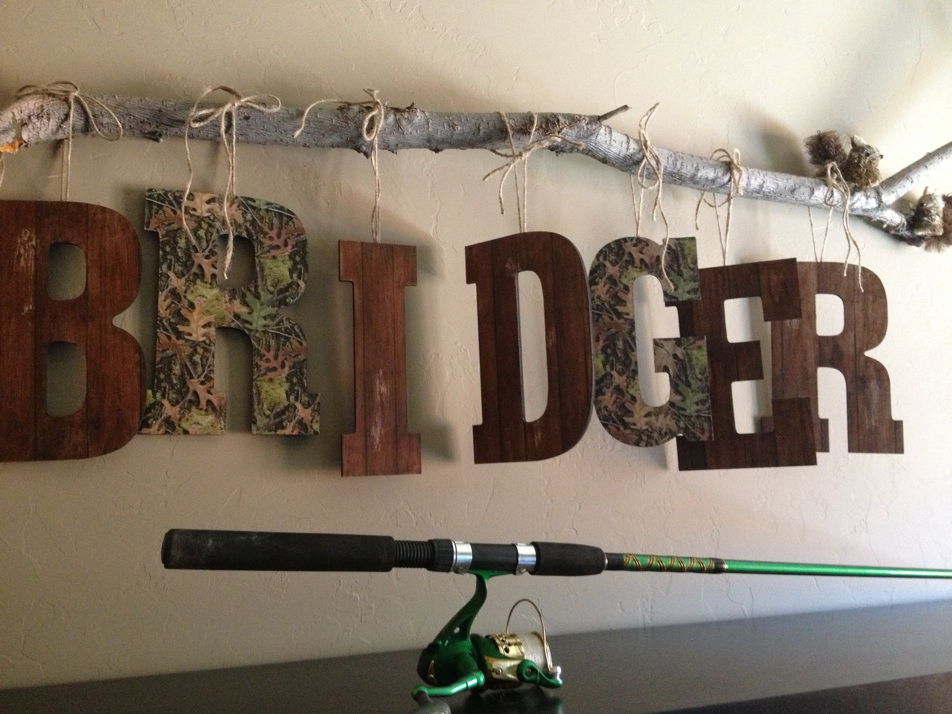 Want To Do This For Hunters Camo Room Looks Boyish