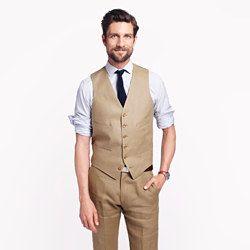 Ludlow suit vest in Irish linen