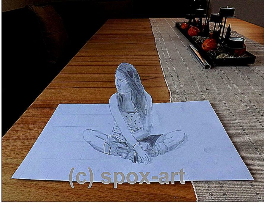 3D Pencil Sketch Wallpapers