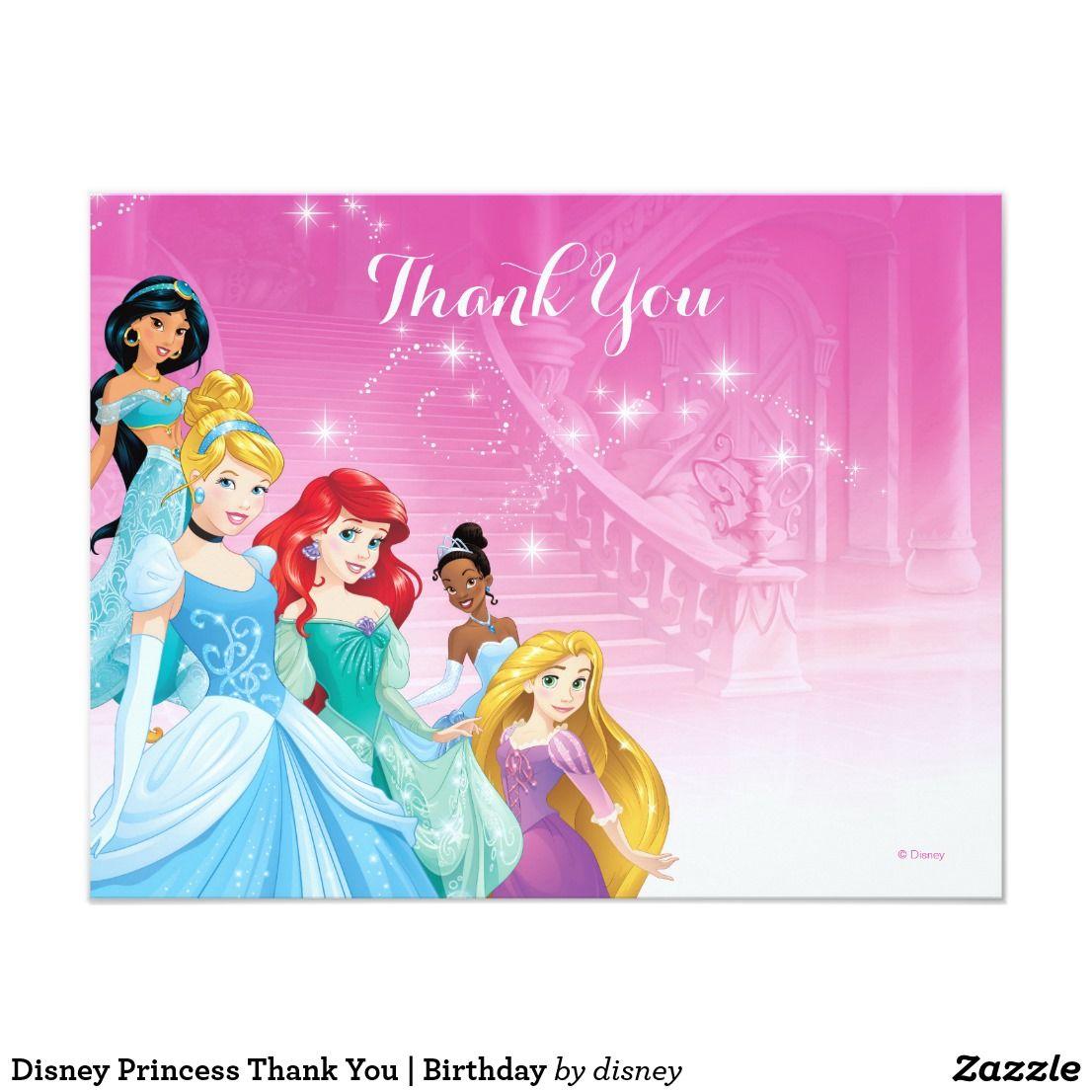 Disney Princess Thank You Birthday Pinterest Disney Birthday