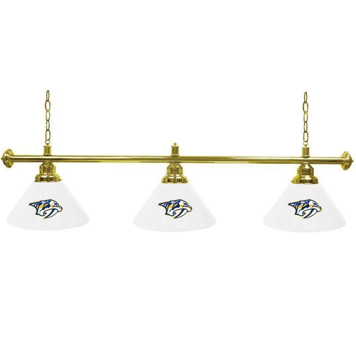 Trademark Commerce NHL4800-NP NHL Nashville Predators 60 Inch 3 Shade Billiard Lamp