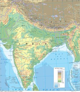 Physical map of india world building map making reference pinterest physical map of india gumiabroncs Choice Image